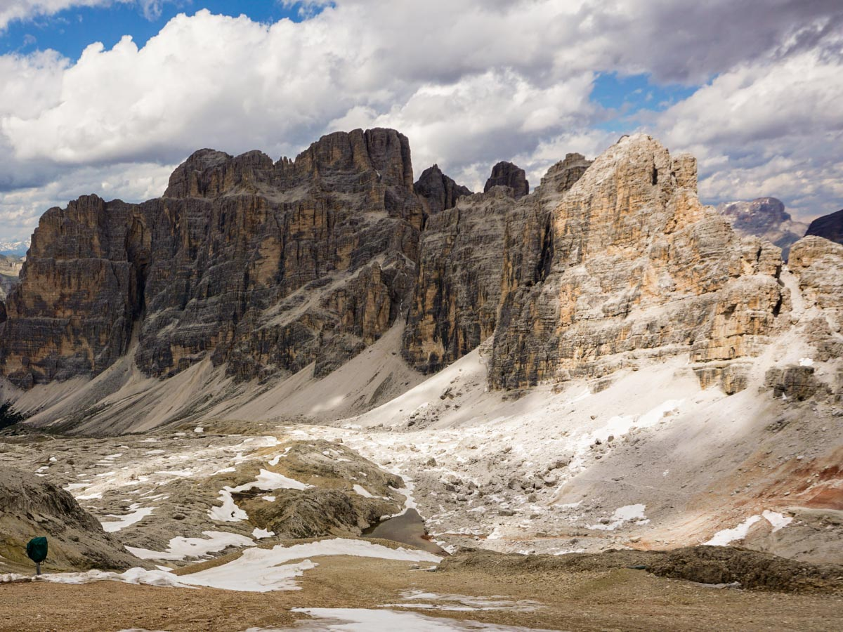 Trail of the Lagazuoi to Passo Falzarego Hike in Dolomites, Italy