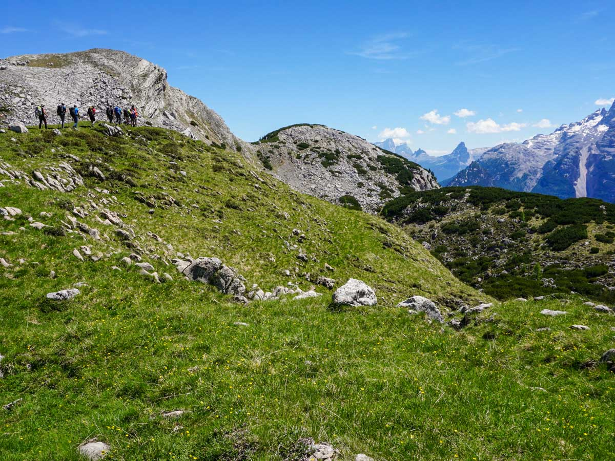 Trail of the Alpe di Sennes Hike in Dolomites, Italy