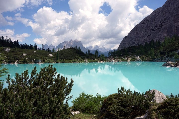 Lago Sorapiss hike is one of top 10 hikes in the Italian Dolomites