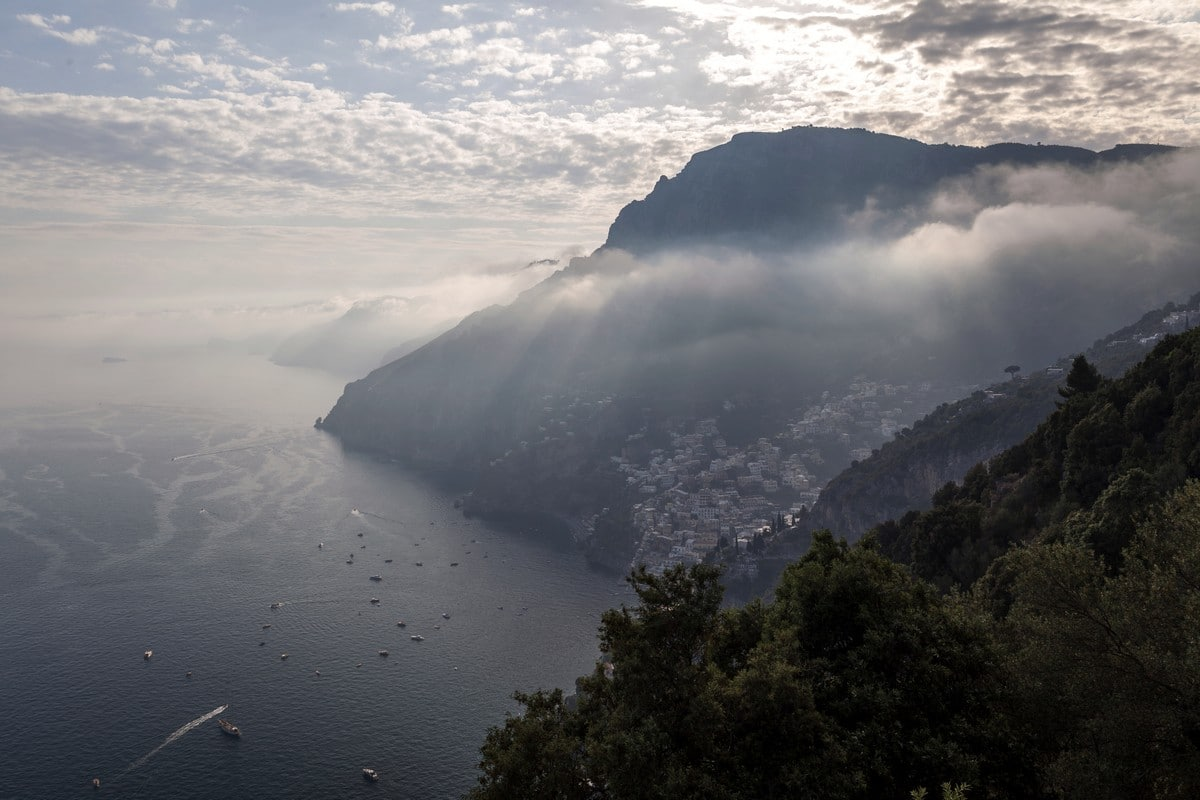 Sunset on the Amalfi Coast on the High Path of the Gods Hike in Amalfi Coast