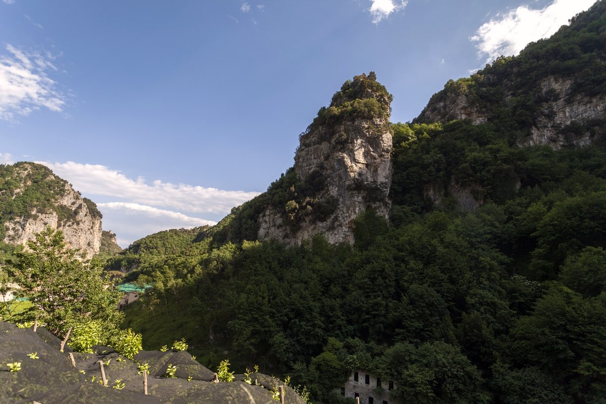 View from the Valle dei Mulini Hike in Amalfi Coast, Italy