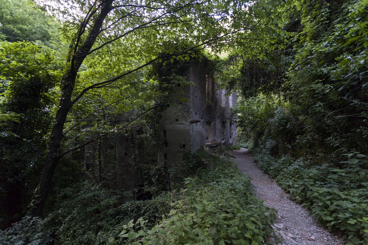 Ancient paper mill on the Valle dei Mulini Hike in Amalfi Coast, Italy