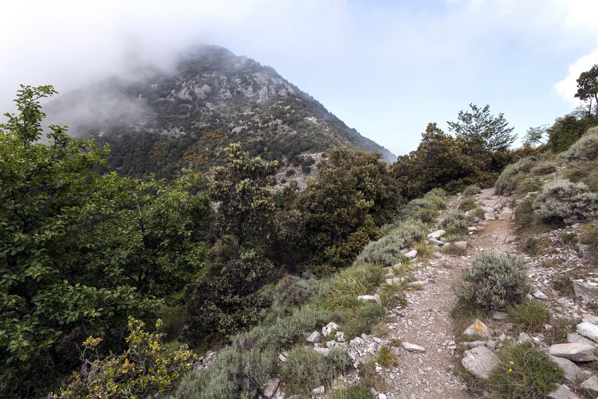 View from the trail of the Monte Canino Hike in Amalfi Coast, Italy