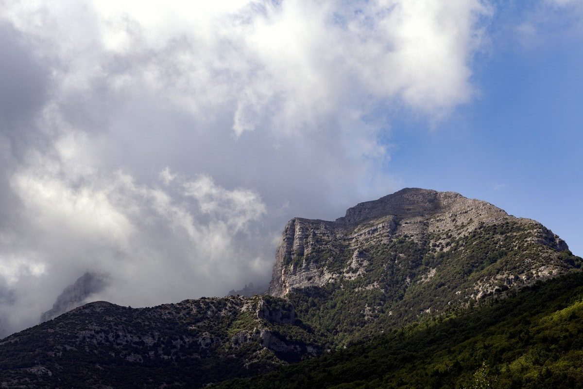 Mount Catello from the High Path of the Gods Hike in Amalfi Coast, Italy