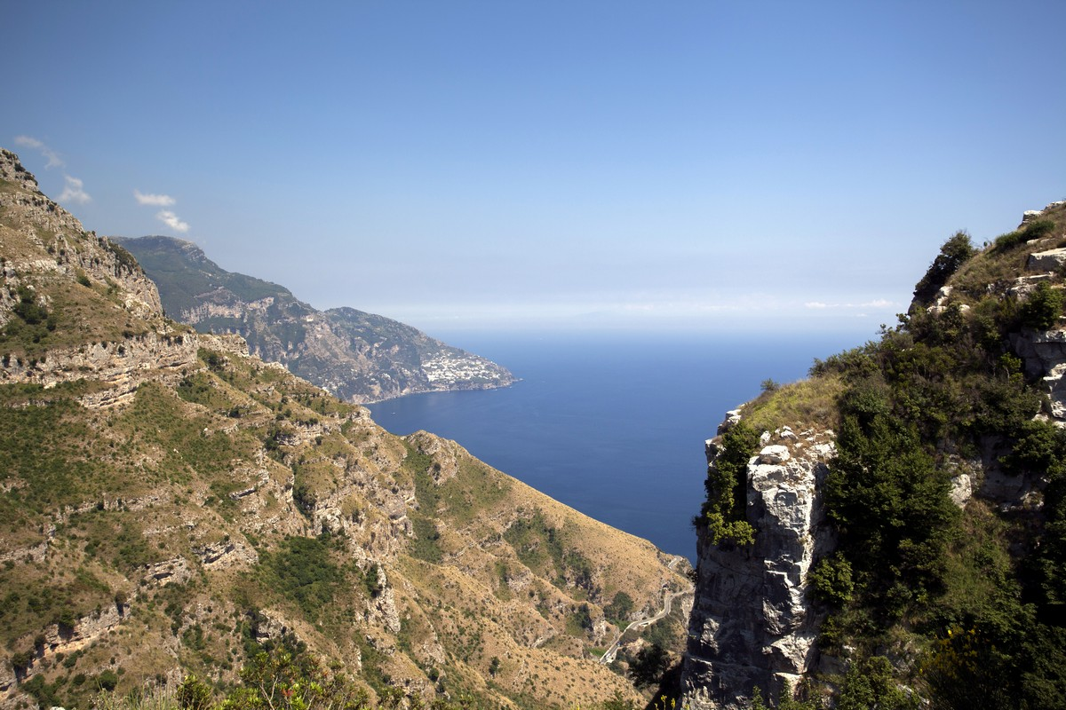 View from the Monte Comune Hike in Amalfi Coast, Italy