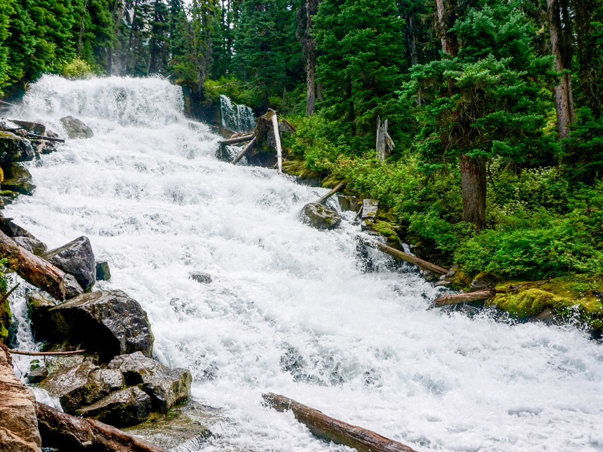 Falls at the Joffre Lakes Hike in Whistler, British Columbia