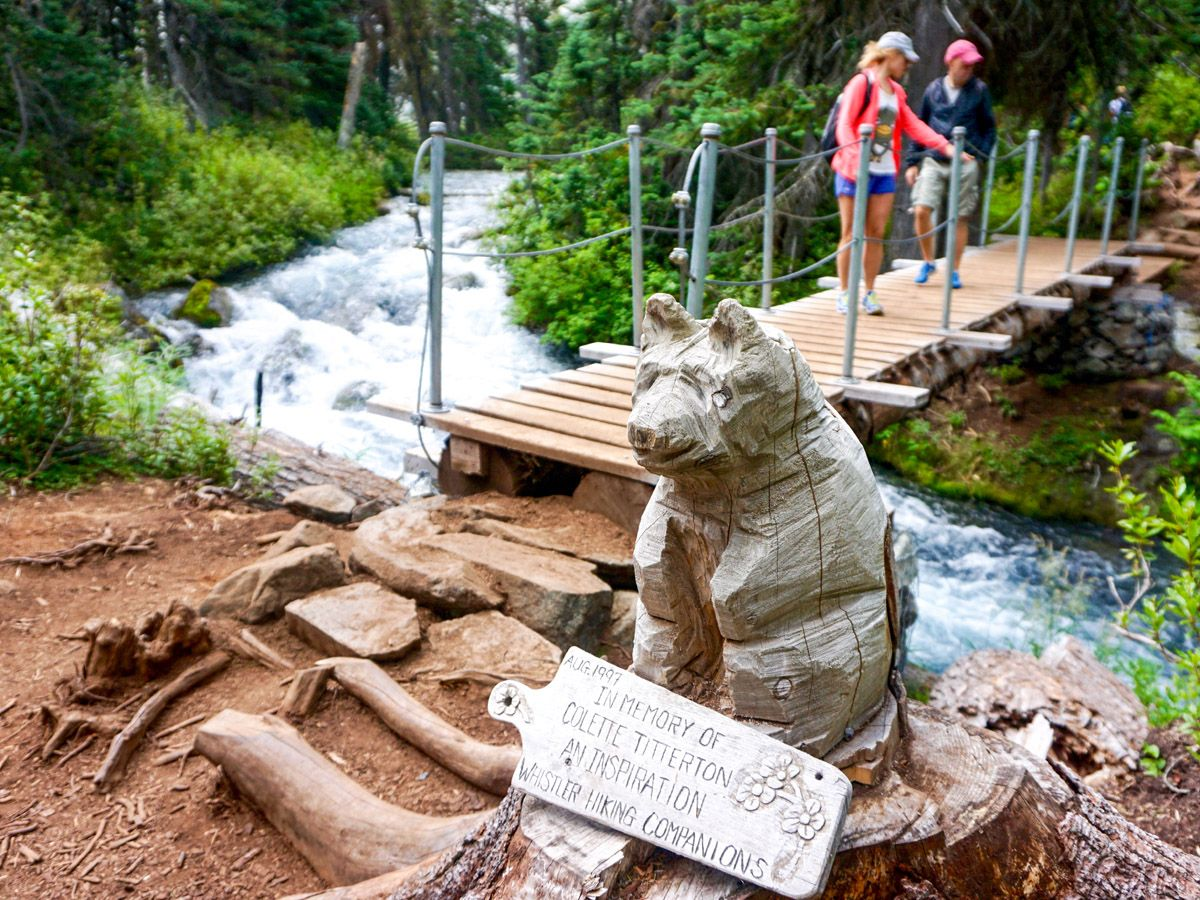 Wooden bridge at Joffre Lakes Hike in Whistler