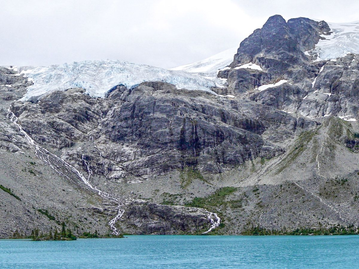 Lake views from the Joffre Lakes Hike in Whistler, British Columbia