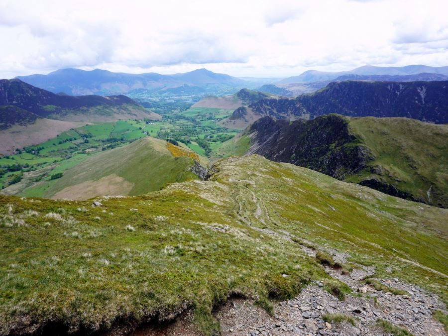 Views from Robinson on the Newlands Horseshoe Hike in Lake District, England