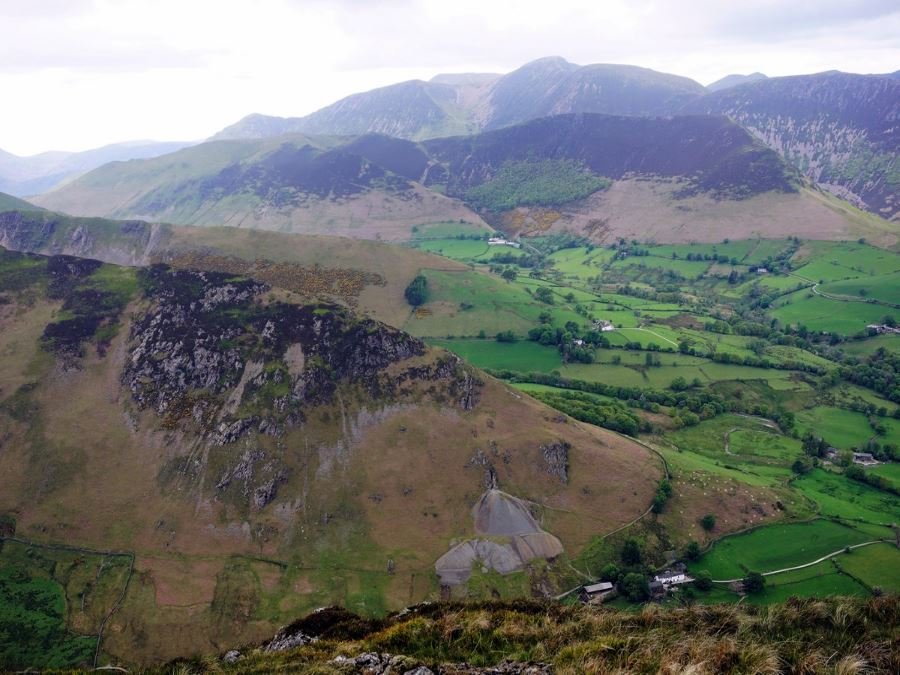 Beautiful views from the Newlands Horseshoe Hike in Lake District, England