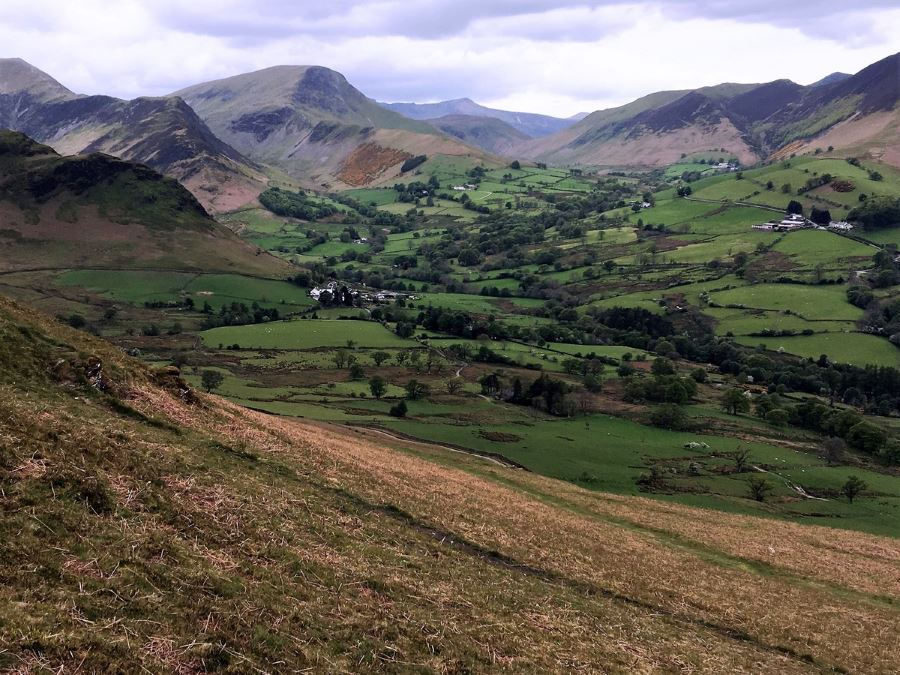 Trail of the Newlands Horseshoe Hike in Lake District, England