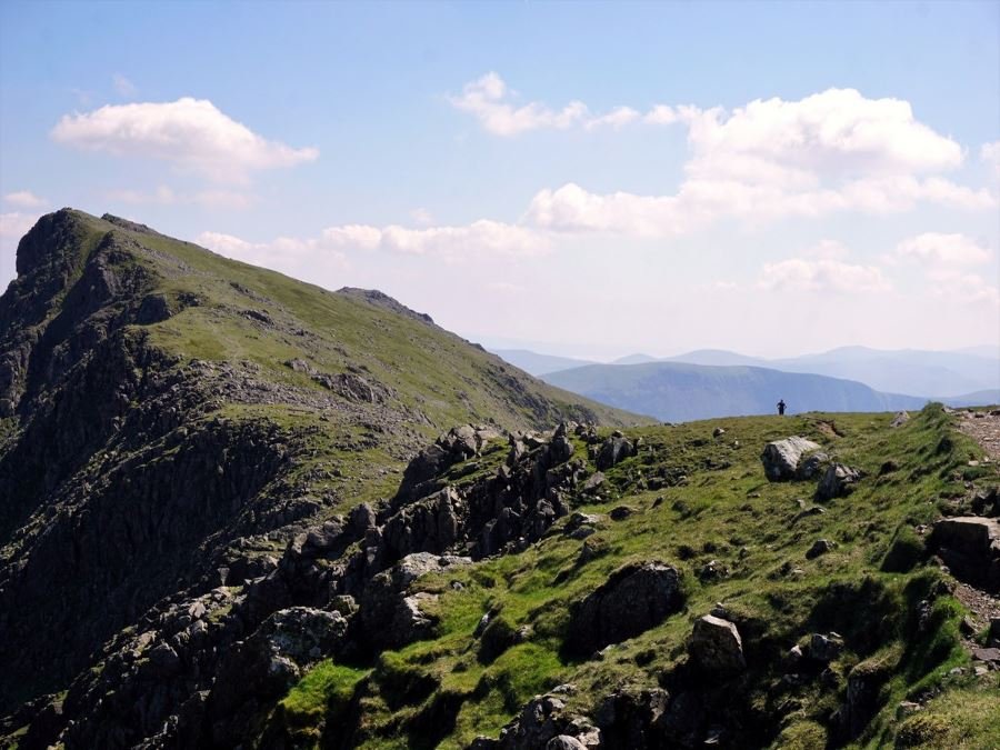 Lone Walker on Mosedale Horseshoe