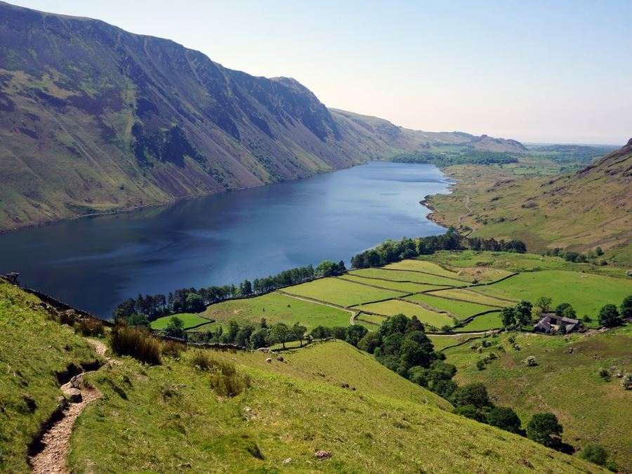 Looking down on Wast Water on Mosedale Horseshoe