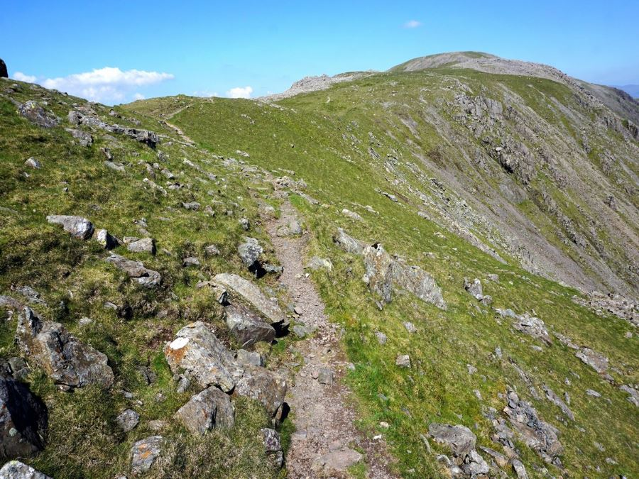 Trail to Red Pike on the Mosedale Horseshoe Hike in Lake District, England