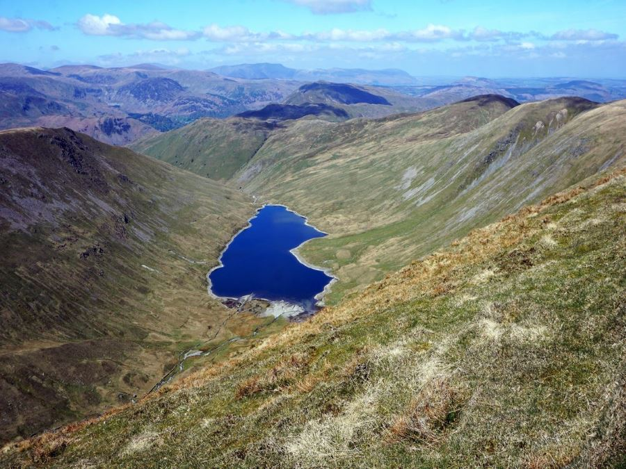 Hayeswater from the Roman High Street Circuit Hike in Lake District, England