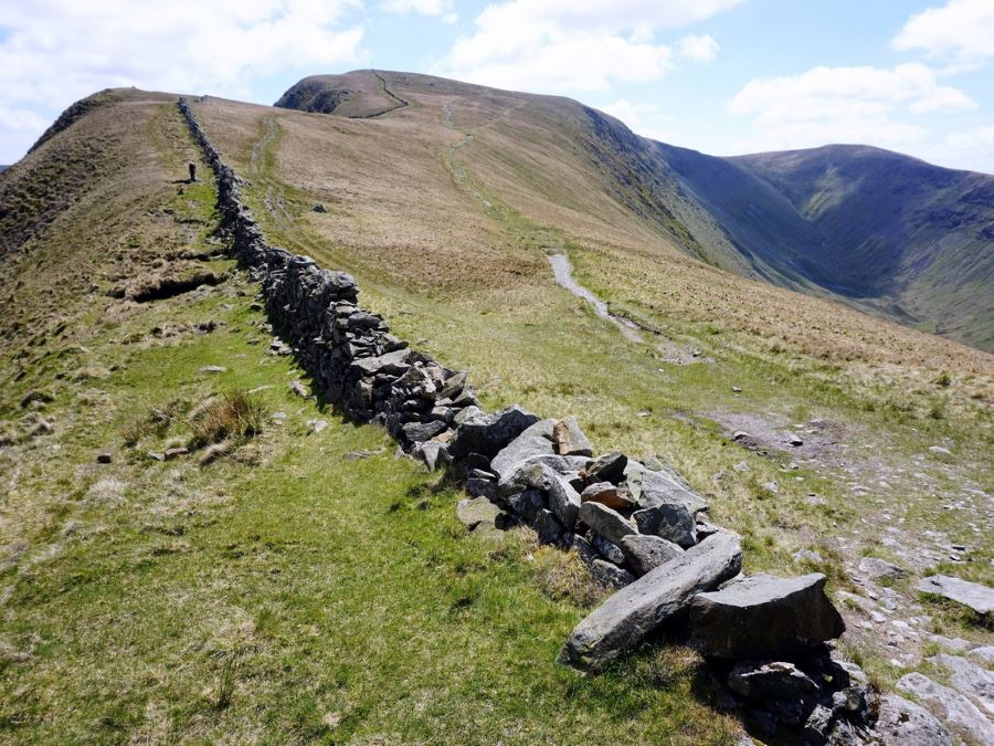 Dale Head on the Roman High Street Circuit Hike in Lake District, England