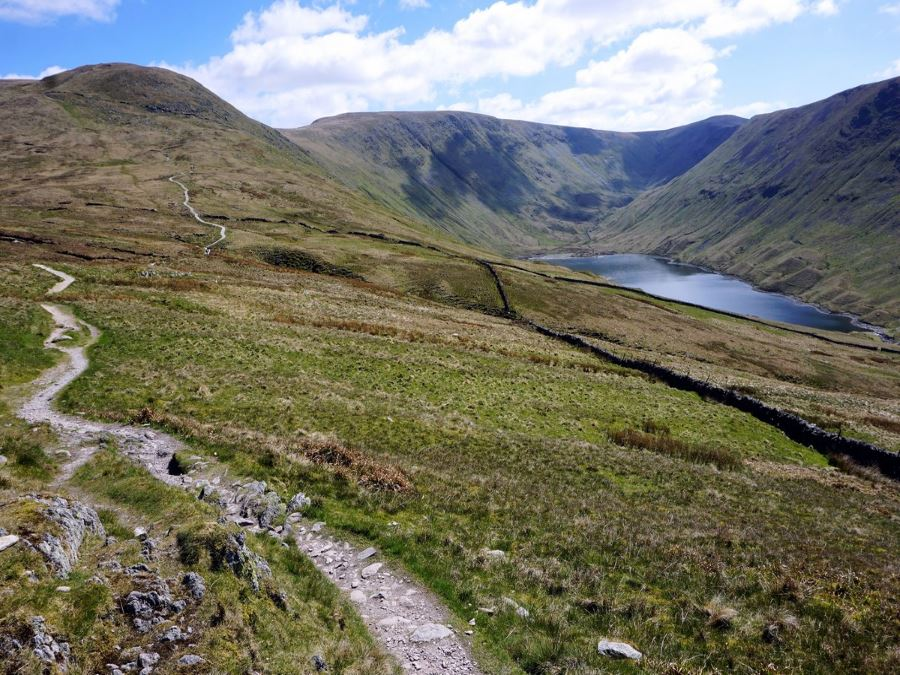 Hayeswater and Dale Head from the Roman High Street Circuit Hike in Lake District, England