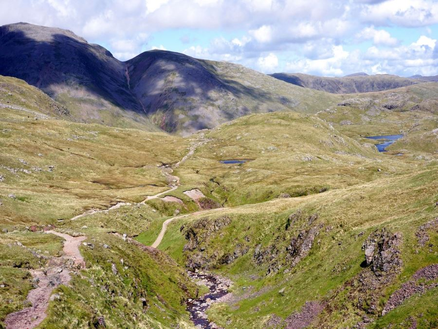 Views from the Scafell Pike Hike in Lake District, England