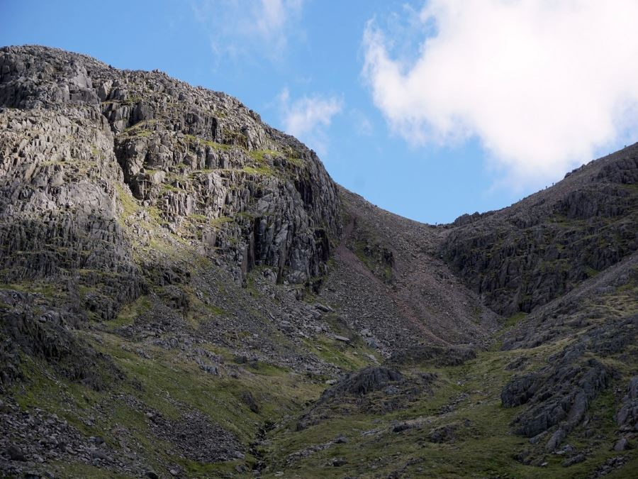 Trail of the Scafell Pike Hike in Lake District, England