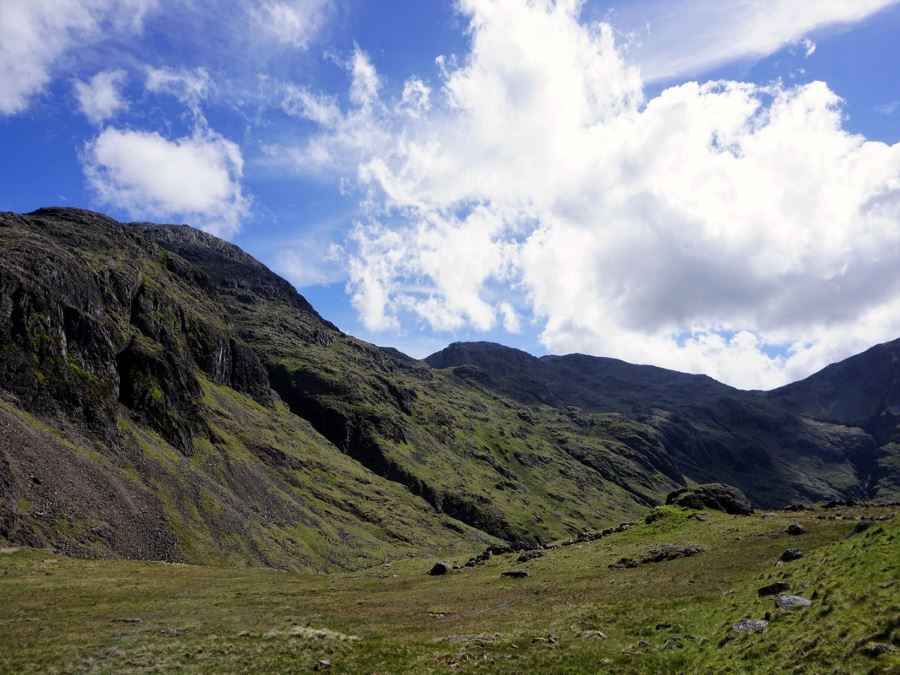 Beautiful scenery from the Scafell Pike Hike in Lake District, England