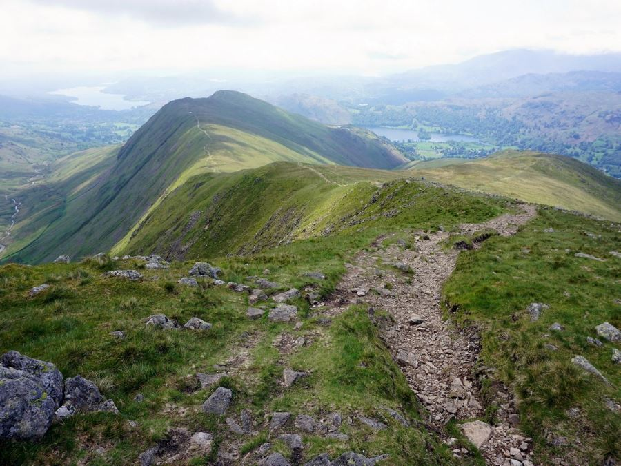 Looking back on Ambleside on the Fairfield Horseshoe walk
