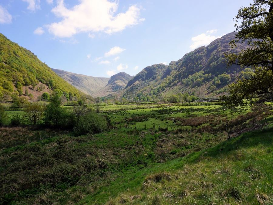 Views from the Langstrath Valley Hike in Lake District, England