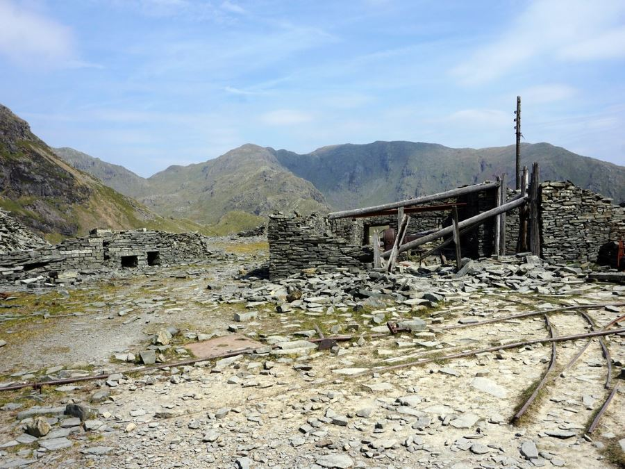 Abandoned buildings on the Old Man of Coniston Circuit