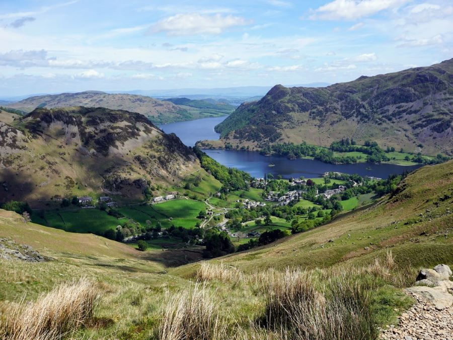 Glenridding from the Helvellyn via Striding and Swirral Edge Hike in Lake District, England