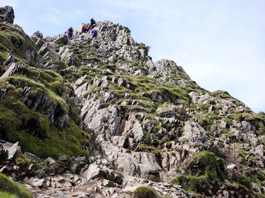 Scrambly bits on the Helvellyn via Striding and Swirral Edge Hike in Lake District, England