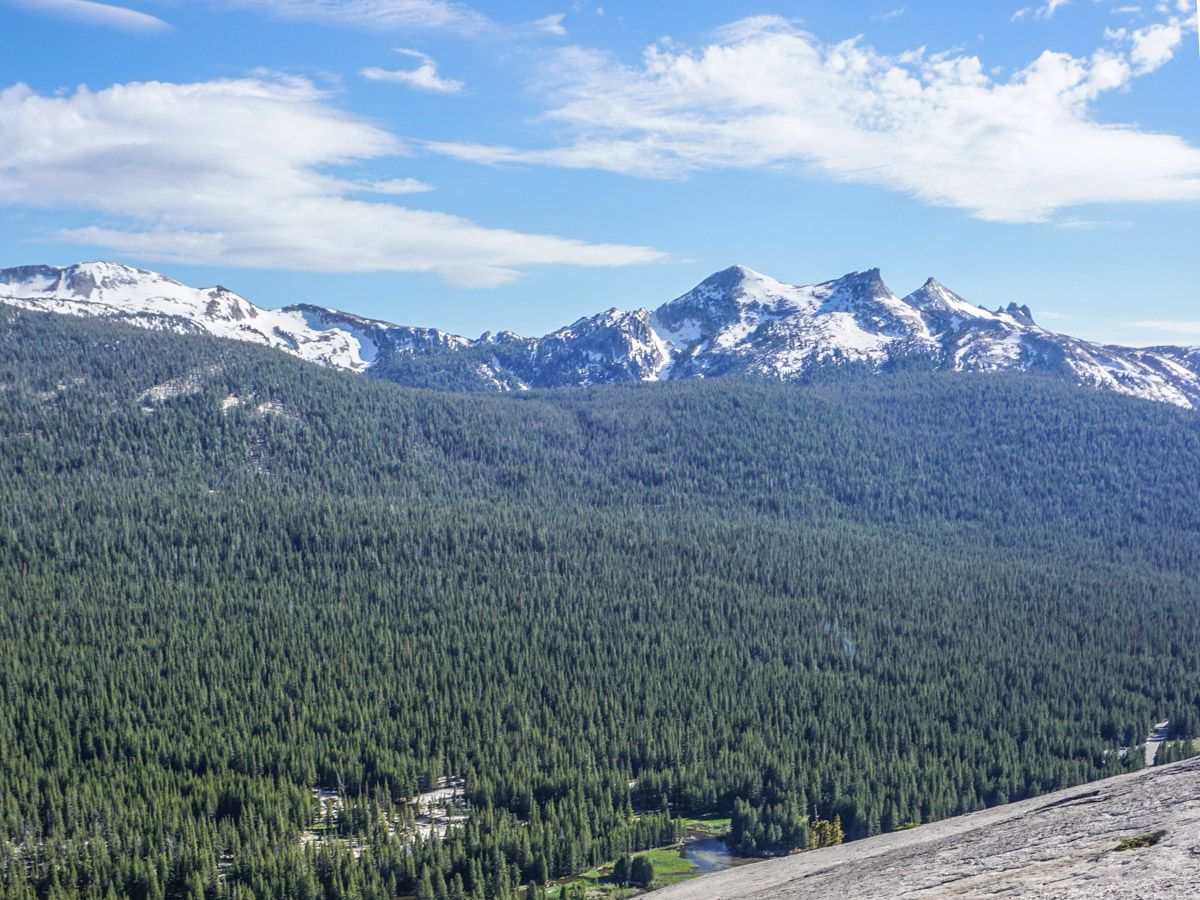 Views from the Lembert Dome Hike in Yosemite National Park, California