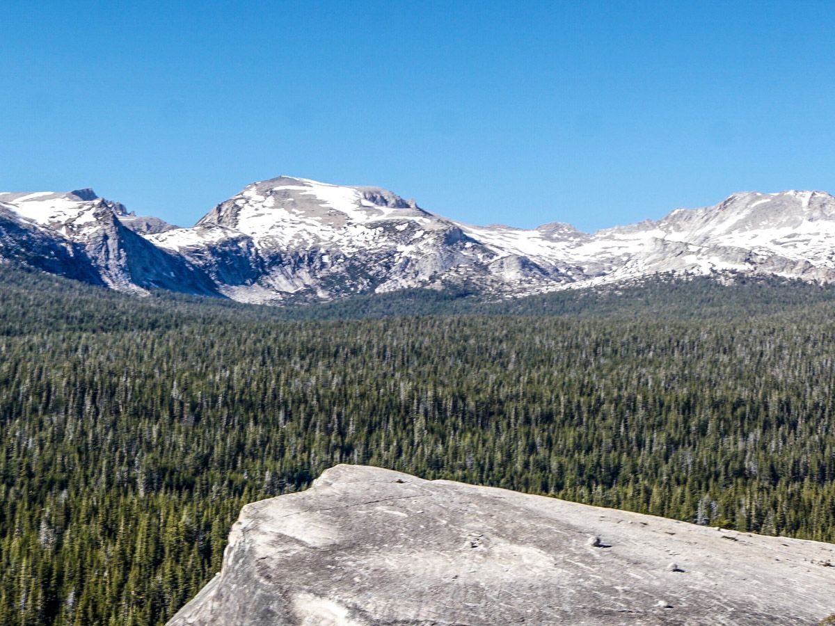 Lembert Dome Hike in Yosemite National Park has rewarding scenery all around