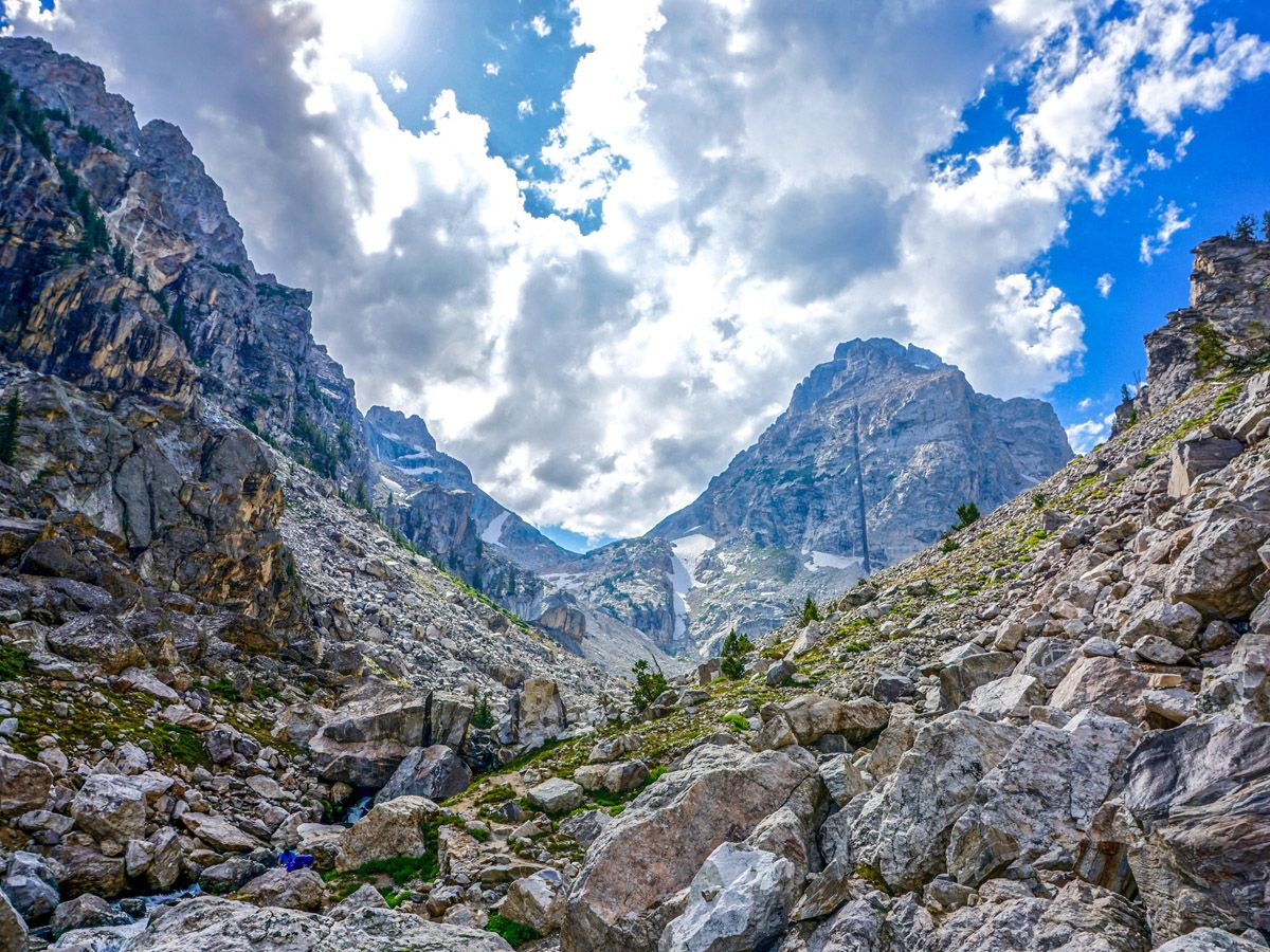 Garnet Canyon hike is one of 10 best hikes in Grand Tetons