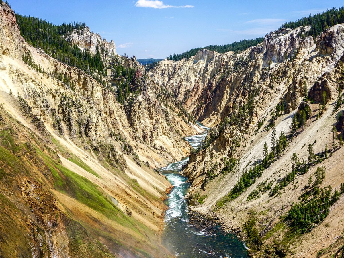 Lower Falls Hike has some of the best views in Yellowstone National Park