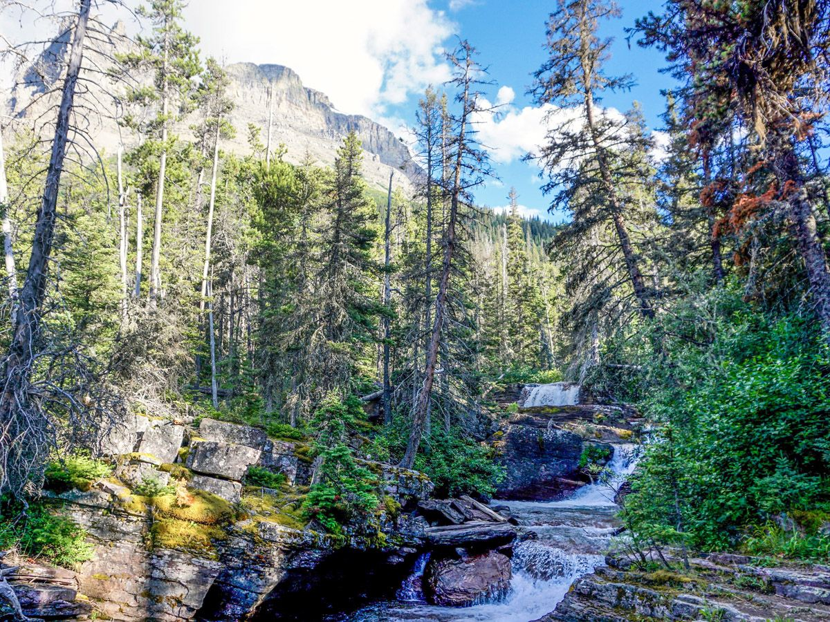 St Mary and Virginia Falls hike is one of 10 best hikes in Glacier National Park, Montana