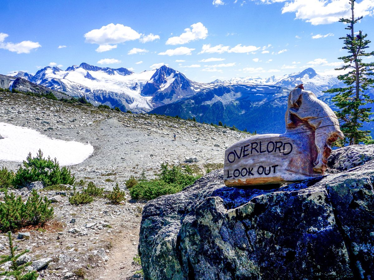 Overlord Lookout on the top of the Blackcomb Meadows Hike in Whistler, British Columbia