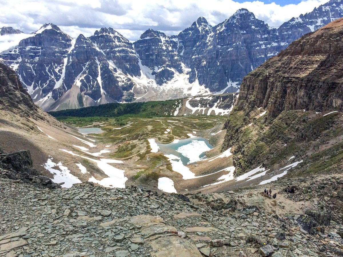 Mountains on the Sentinel Pass Hike in Lake Louise, Banff National Park