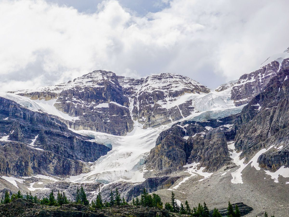 Stanley Glacier trail is one of the best hikes along Icefields Parkway