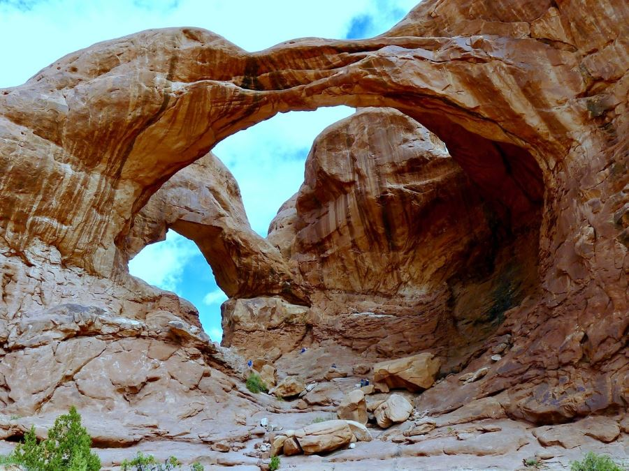 Double Arch trail in Arches National Park