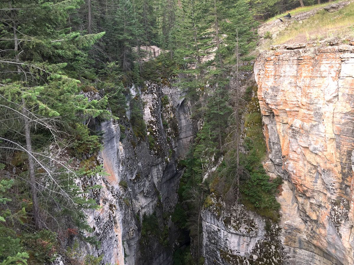 Mountain at Maligne Canyon in Jasper National Park