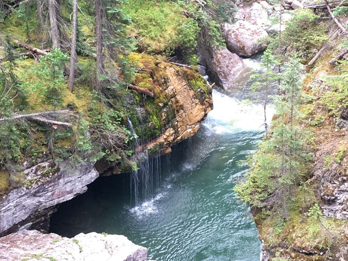 Falls on the Maligne Canyon Hike in Jasper National Park, Alberta
