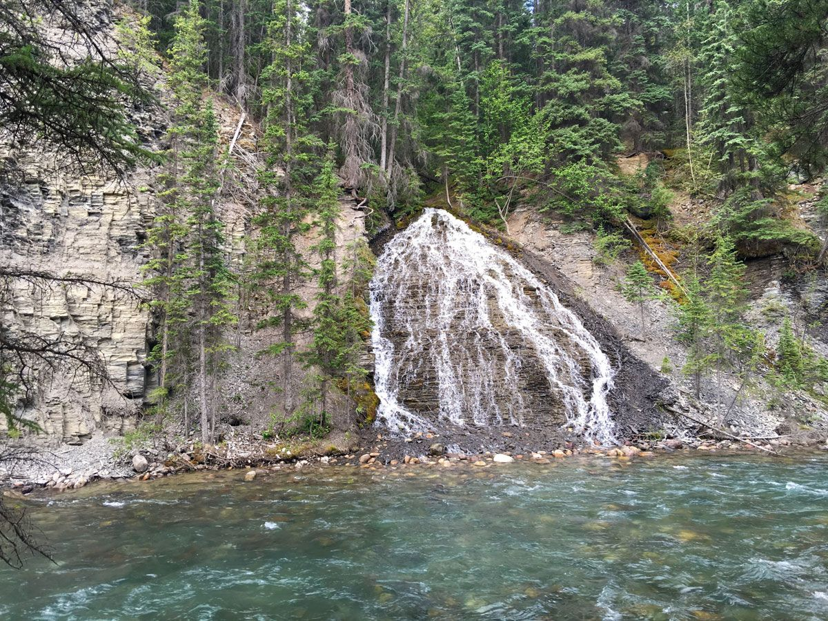 Falls and the river on the Maligne Canyon Hike in Jasper National Park, Alberta