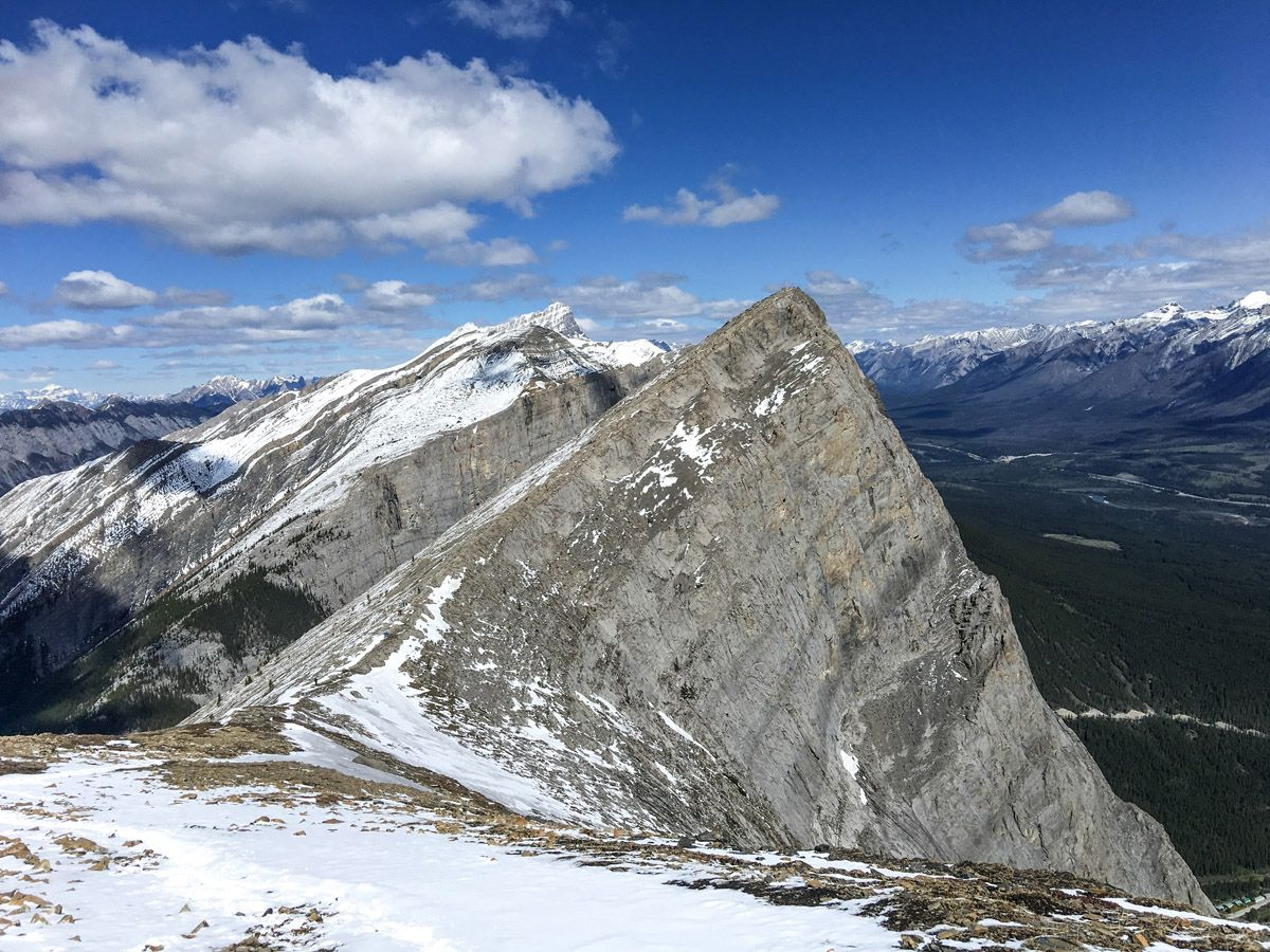 Mountain Top on the Ha Ling Peak, Miners Peak & The Three Humps Hike from Canmore, the Canadian Rockies