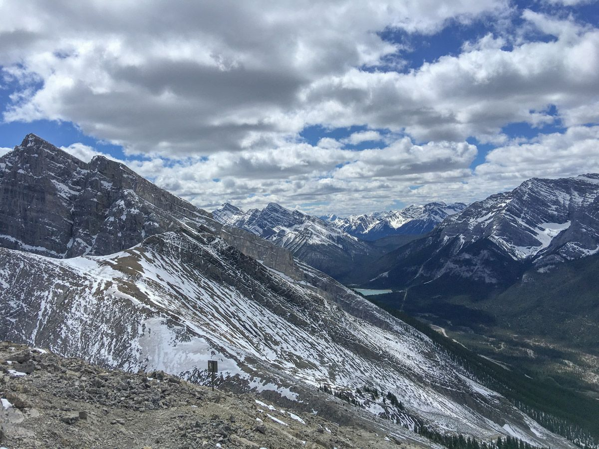 Mountains on the Ha Ling Peak, Miners Peak & The Three Humps Hike from Canmore, the Canadian Rockies
