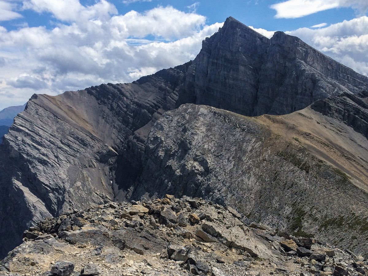 Scenery on the Ha Ling Peak, Miners Peak & The Three Humps Hike from Canmore, the Canadian Rockies