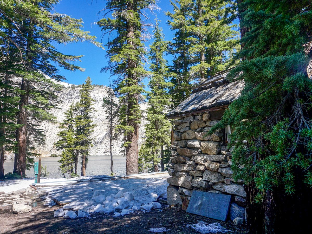 Small cabin at Mount Hoffman Hike in Yosemite National Park