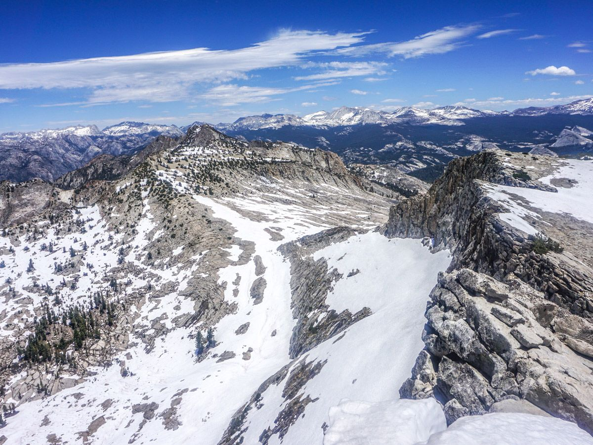 View from the mountain on Mount Hoffman Hike in Yosemite National Park