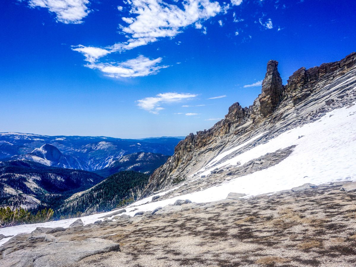 View from the mountain at Mount Hoffman Hike in Yosemite National Park