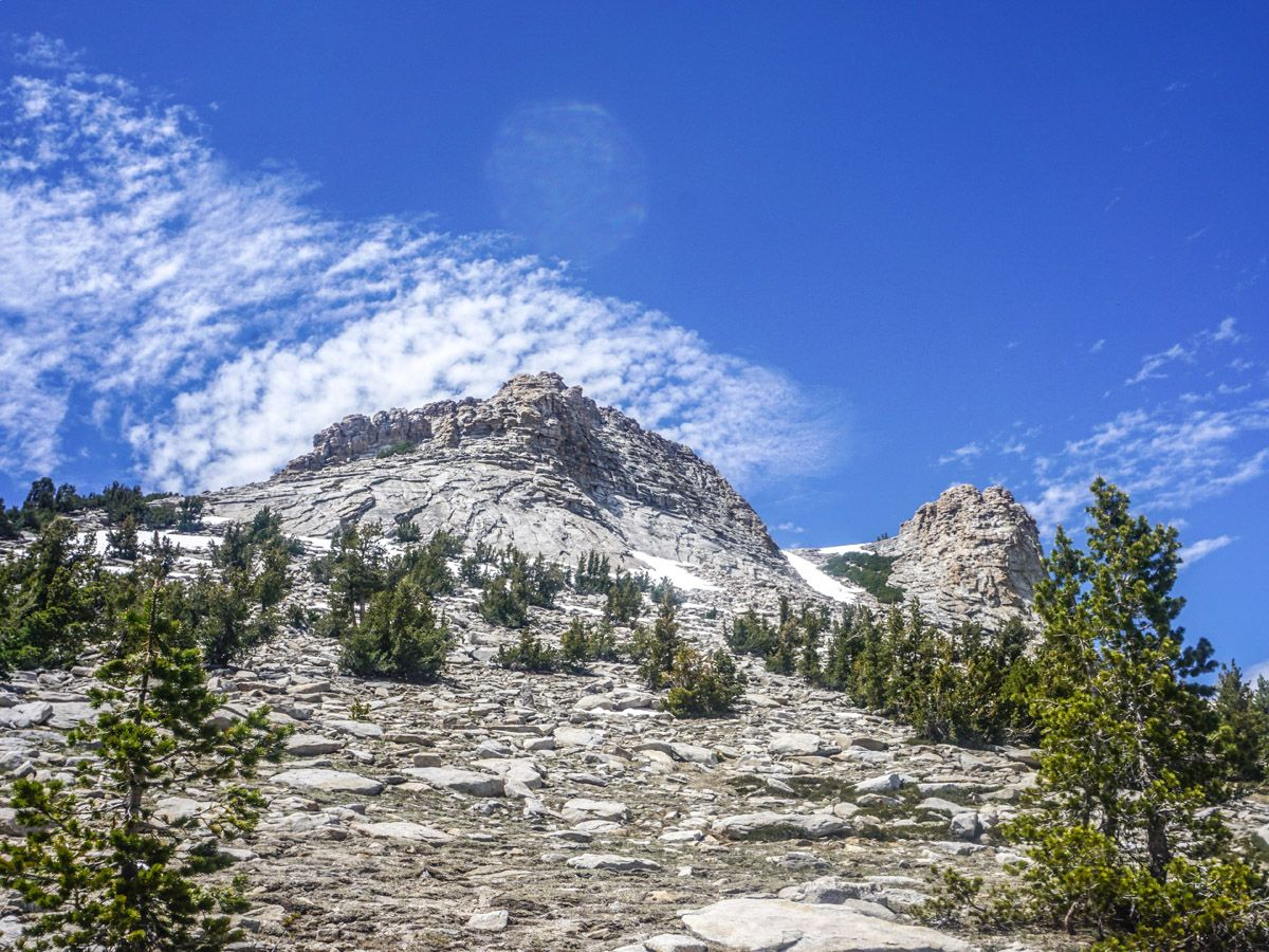 View of Mt Hoffman at Mount Hoffman Hike in Yosemite National Park