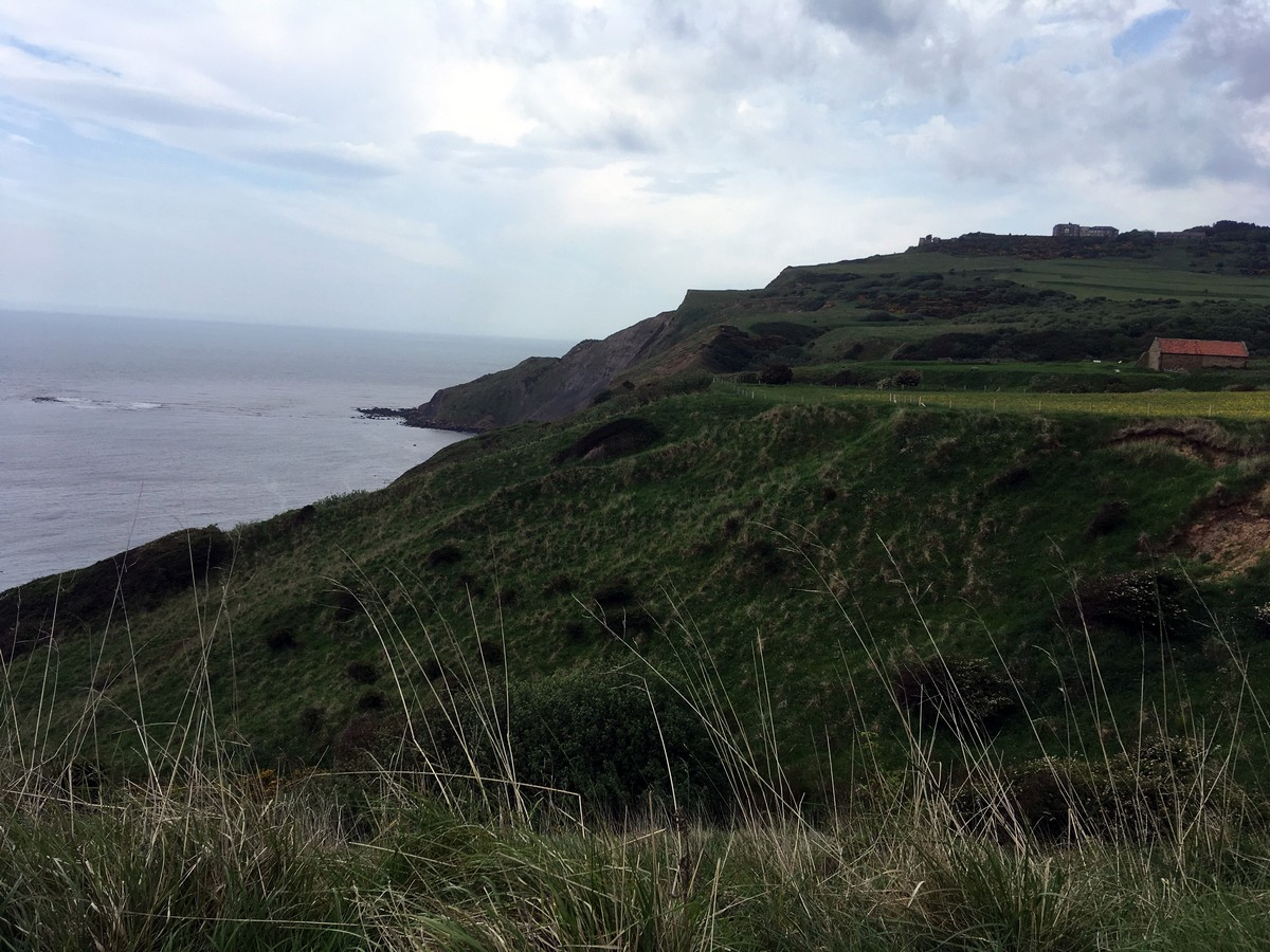 Cleveland way on the Ravenscar and Robin Hood's Bay Hike in North York Moors, England