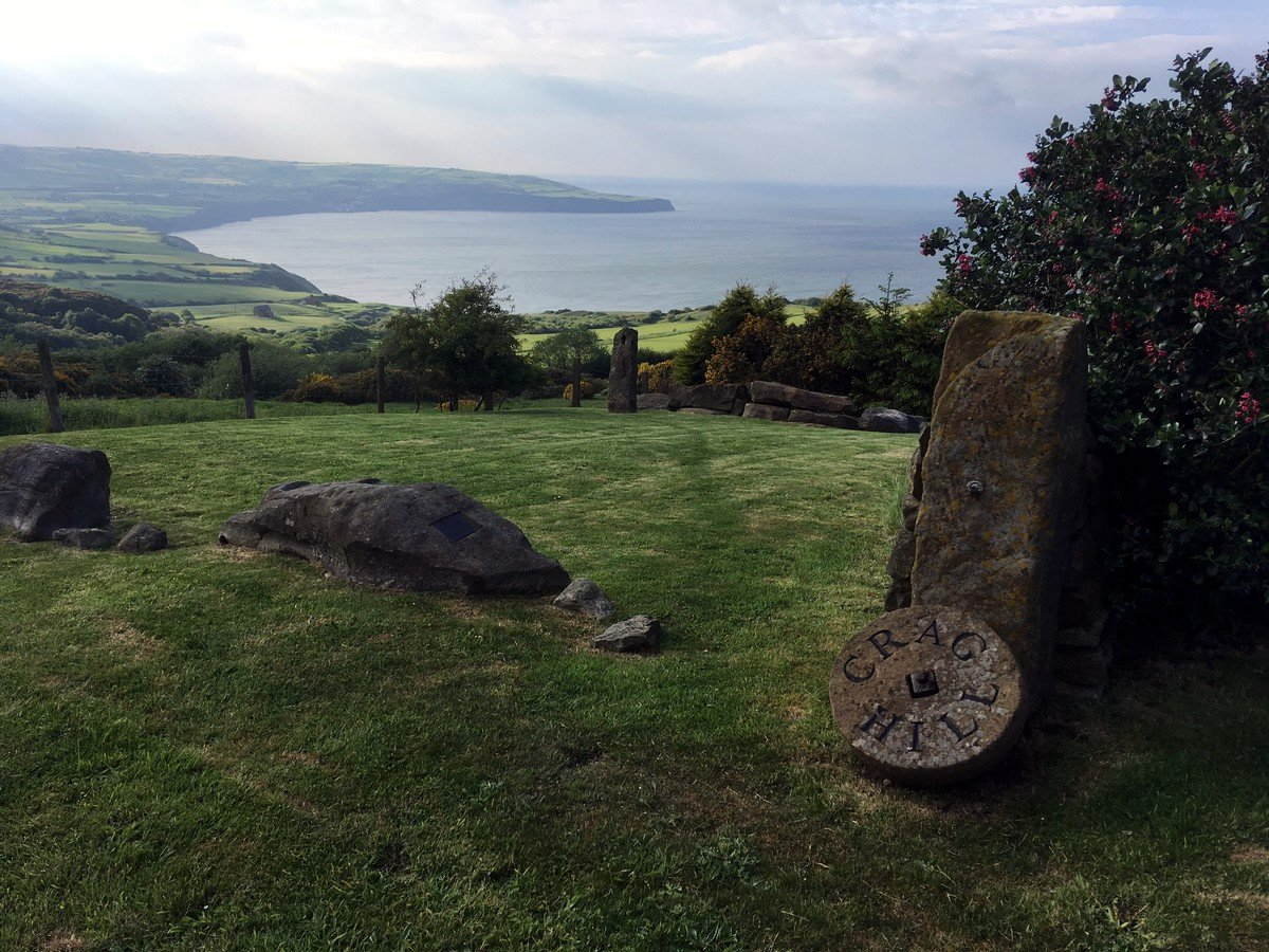 View from Crag Hill on the Ravenscar and Robin Hood's Bay Hike in North York Moors, England